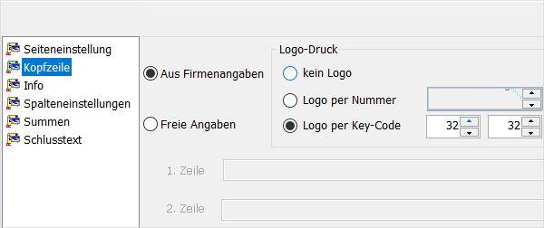 Screenshot Logo-Druck